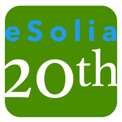 Graphic of the eSolia Chicklet Logo